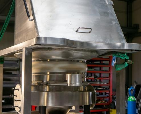Manueel zakken cabinet met controlezeef - HVD Technologies