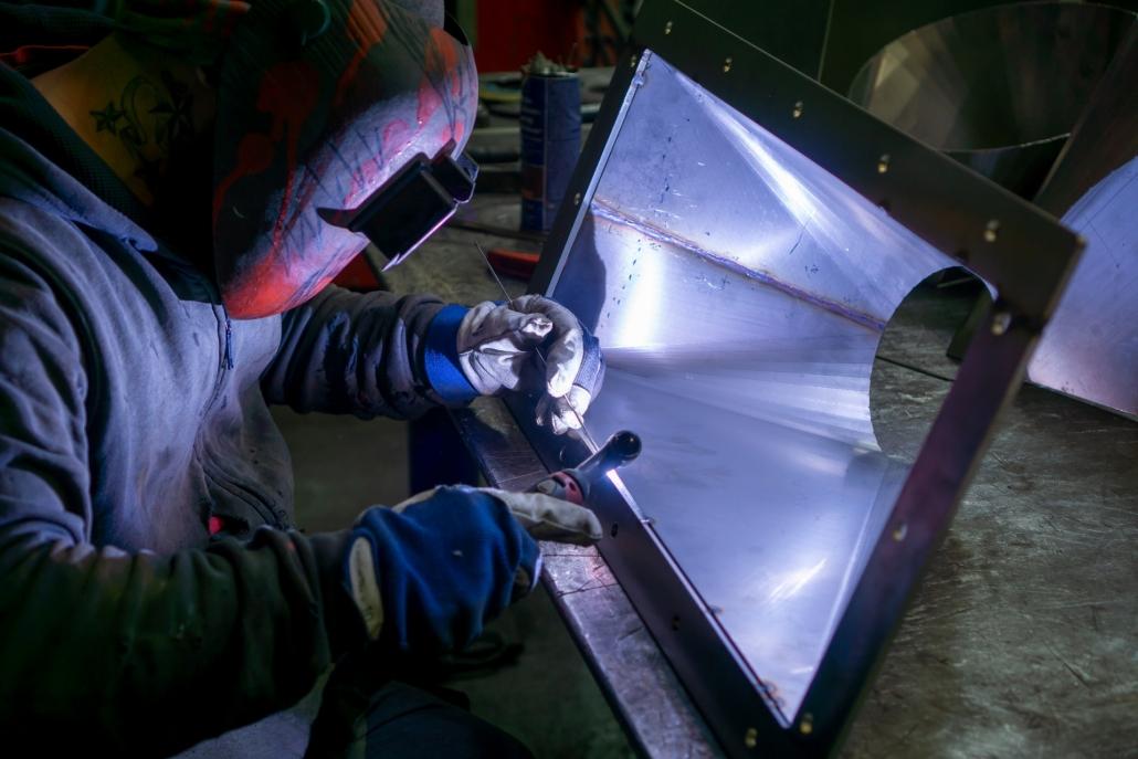 Tig lassen in atelier - HVD Technologies